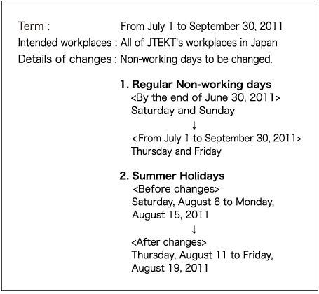 "Notice of Changed ""Non-Working Days"