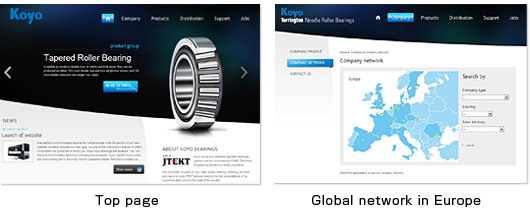 Established the Integrated Website of Bearing Business in Europe