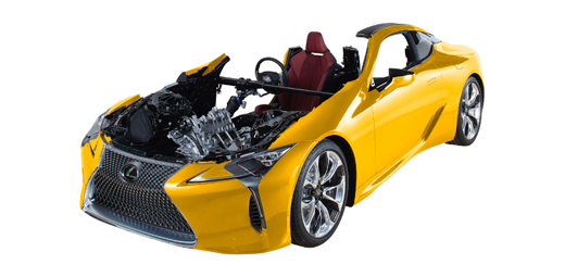 Lexus LC500 cutaway will be on display in the JTEKT booth